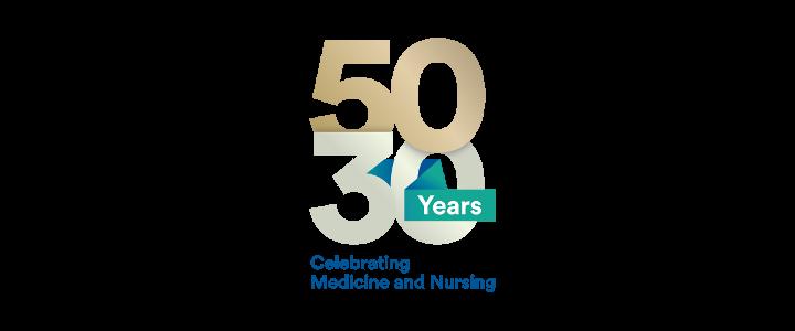 50-30 Medicine and Nursing Logo