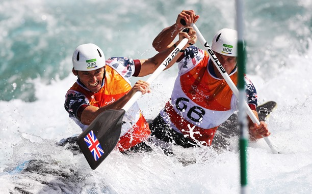 Two male canoeists