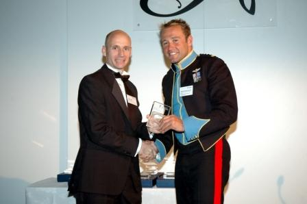 Captain Nicholas Paul Barton receiving his award
