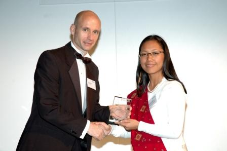 Miss Agatha Sangma receiving her award