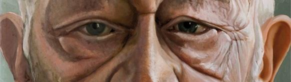 A portrait of Alan Sillitoe