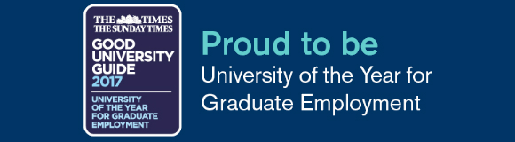 University of the Year for Graduate Employment award from The Times Good University Guide 2017